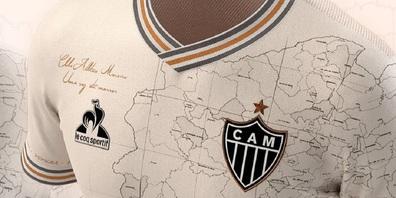 Das Shirt zeigt eine Karte der Heimatprovinz des Clubs, Minas Gerais