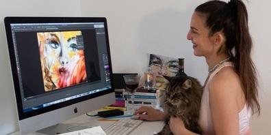 Daniela Filippelli verbindet analoge und digitale Stilmittel zu Kryptokunstwerken.