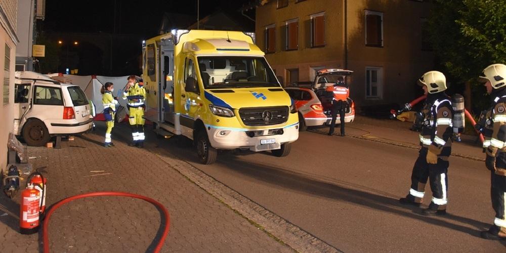 Der Unfall geschah am Freitag (11.06.2021), kurz vor 2:10 Uhr, auf der Wiesentalstrasse in Uzwil.