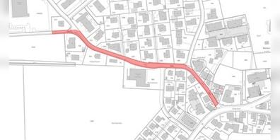 Auf dem rot markierten Abschnitt der Rietstrasse finden punktuelle Sondierungen statt.