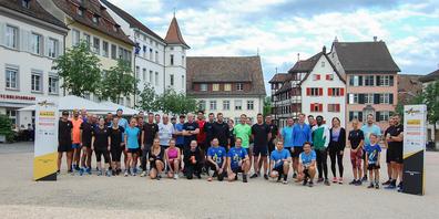 Am durchgeführten Trainingslauf waren fast 50Läuferinnen und Läufer dabei.