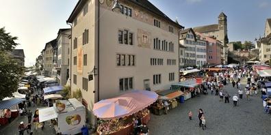 Am nächsten Mittwoch findet in der Rapperswiler Altstadt der Herbstmarkt statt.