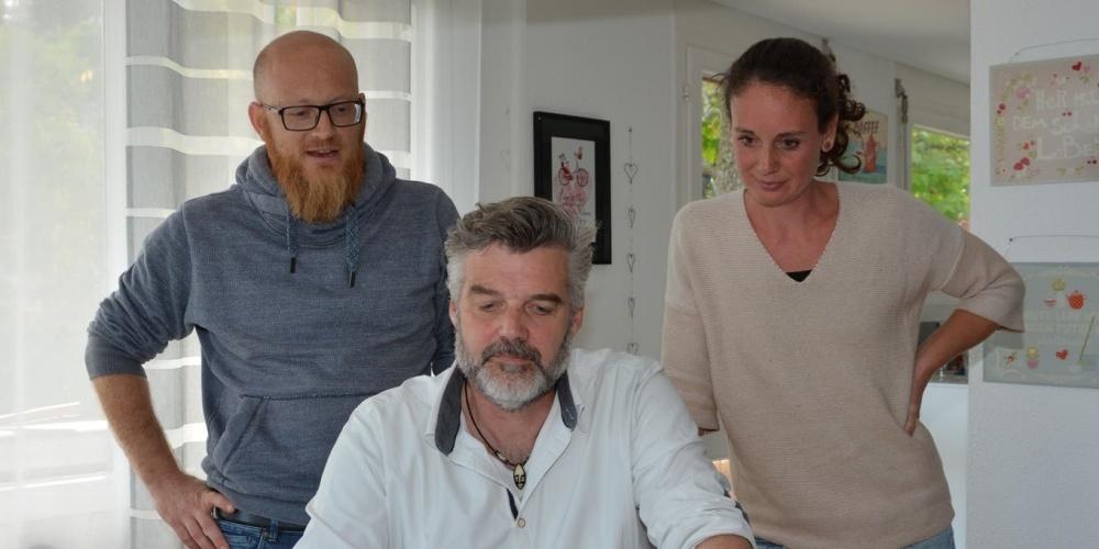 David Mächler, Stefan Diener und Nadja Bösiger-Wäckerlin (von links)