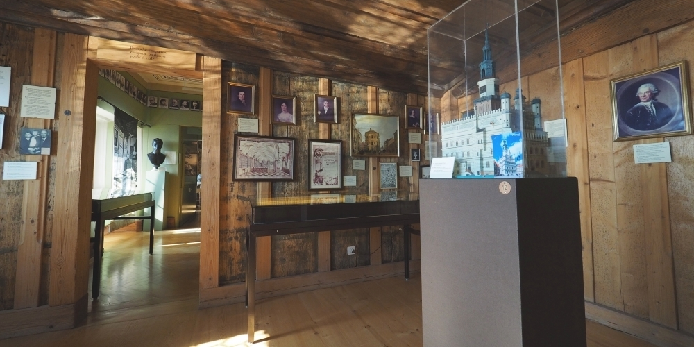 Blick in einen Ausstellungsraum des Polnischen Nationalmuseums im Schloss Rapperswil.