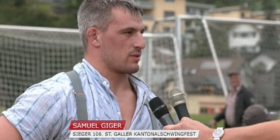 Im Siegerinterview der diesjährige Serien-Champion Samuel Giger.