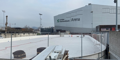 Steht vor dem Aus: Offenes Eisfeld im Lido. Hier könnte die Lakers-Trainingshalle entstehen.