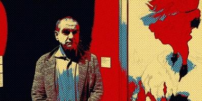 Ausschnitt eines Plakats mit dem Schauspieler Gilles Tschudi. (Gestaltung: Katharina Werdmüller)