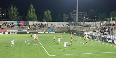 Gross die Wiler Freude nach dem 2:0 durch den Doppeltorschützen Sofian Balhoul.