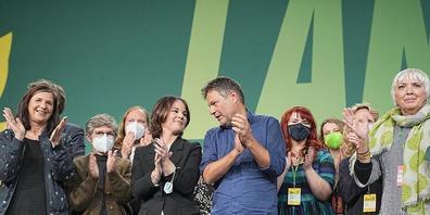 Sie haben sich entschieden: Die Grünen wollen die Koalitionsverhandlungen mit SPD und FDP aufnehmen. Foto: Michael Kappeler/dpa
