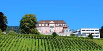 Links neben der Villa Tanner soll das neue Altersheim «Geserhus» realisiert werden. Das überarbeitete Projekt wird Ende Jahr oder anfangs 2022 vorgestellt.
