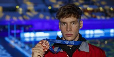 Die Zukunft hat schon begonnen: Schwimmer Roman Mityukov gewann an der EM im Mai über 200 m Rücken die Bronzemedaille