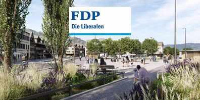 Nach Abwägung von Vor- und Nachteilen empfiehlt die FDP Schmerikon ein Ja zum neuen Dorfplatz in die Urne zu legen.