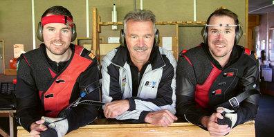Stark geschossen: (von links) Michael Monsch, Meinrad Monsch und Roger Monsch.