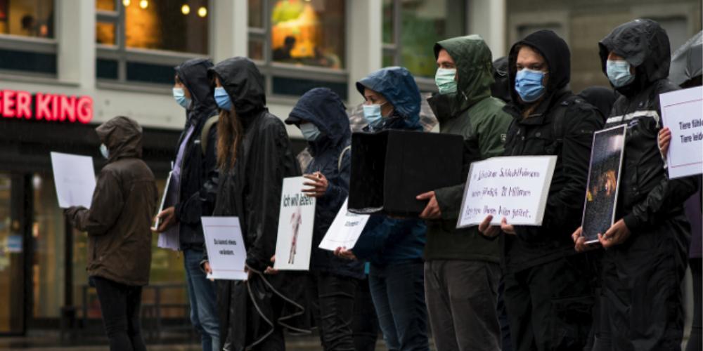 Stiller Protest in der Stadt St.Gallen