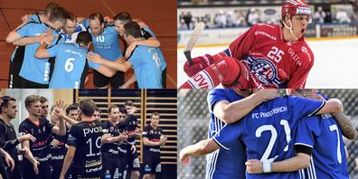 Am Wochenende läuft was im Fussball, im Hockey und im Volleyball.