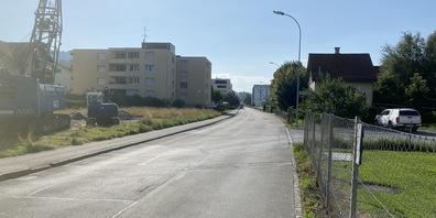 Ort des Geschehens: Die Industriestrasse in St.Margrethen