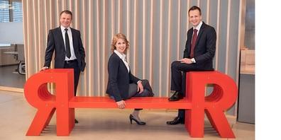 (V. l) Patrik Forster als neu gewählter VR-Präsident, Judith Scherzinger und Martin Pfister als neue VR-Mitglieder.