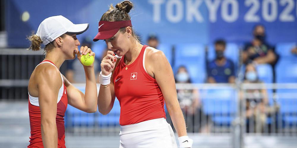 Perfektes Teamwork: Viktorija Golubic (li.) und Belinda Bencic stehen im Final des olympischen Doppelturniers