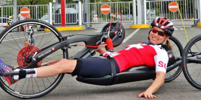 Sandra Stöckli absolvierte ihr erstes Rennen an den Paralympics in Tokio mit Erfolg.