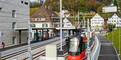 In Teufen AR braucht es für die Durchmesserlinie zwischen Appenzell und Trogen einen Doppelspur-Ausbau bis zum Bahnhof.