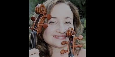 Die Bratschistin Hanna Gubenko spielt in Lachen.