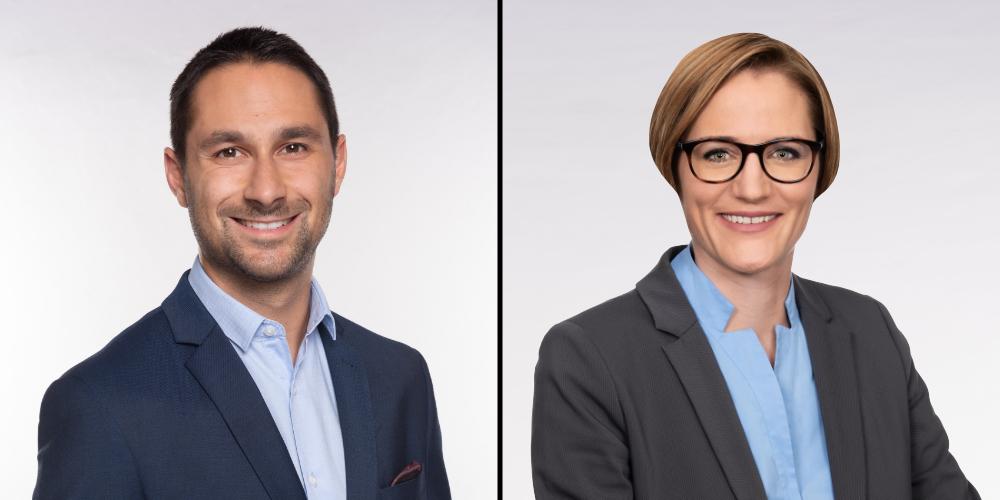 Gabriel Macedo, Parteipräsident und Kantonsrat der FDP, und Michèle Strähl-Obrist, Weinfelder Kantonsrätin.