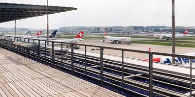 Vorübergehend gesperrt: Zuschauerterrasse am Flughafen Zürich