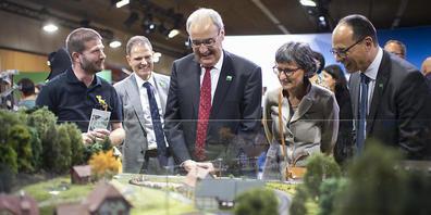 Am 7. Oktober war die Olma in St. Gallen nach einem Jahr Corona-Pause in Anwesenheit von Bundespräsident Guy Parmelin (SVP) eröffnet worden. (Archivbild)