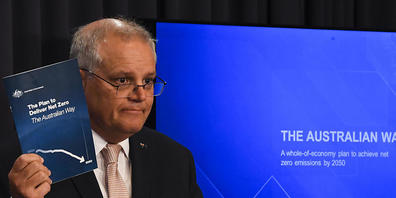 Australian Prime Minister Scott Morrison speaks to the media during a press conference at Parliament House in Canberra, Tuesday, October 26, 2021. (AAP Image/Lukas Coch) NO ARCHIVING
