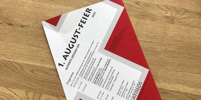 Der Info-Flyer wurde verteilt - die Bundesfeier soll stattfinden.