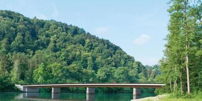 Die geplante Rheinbrücke zwischen Flaach (ZH) und Rüdlingen (SH) wird teurer als geplant. Stahl und Holz sind in den letzten Monaten deutlich kostspieliger geworden.