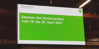Die wichtigsten Eckdaten zur Aprilsession 2021 des St.Galler Kantonsrats auf einen Blick.