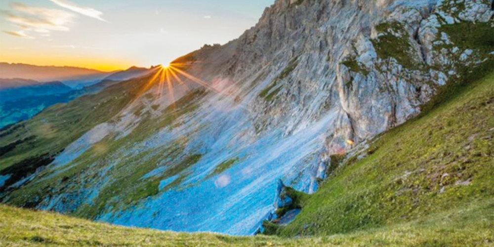 Der Sonnenuntergang auf Madrisa – ein wahrer Genuss.