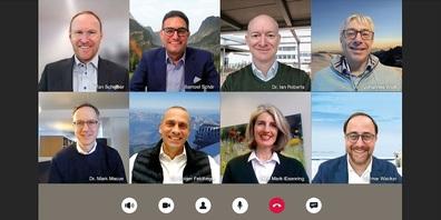 Die Geschäftsleitung der Bühler Group hat 2020 die digitalen Kommunikationskanäle noch stärker genutzt.