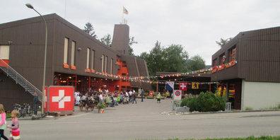 1.-August-Feier im Werkhof.