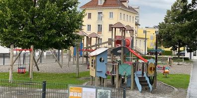 Der Spielplatz beim Pärkli in St.Margrethen