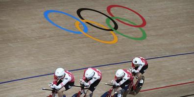 Der Schweizer Bahnvierer konnte auf der olympischen Bahn in Tokio am Dienstag den Schweizer Rekord senken