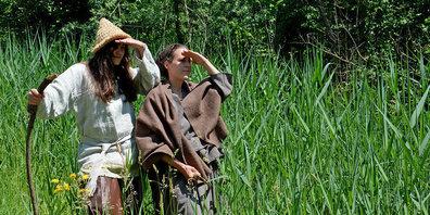 Am Pfahlbaufest kann das Leben der einstigen Pfahlbauer*innen entdeckt werden.