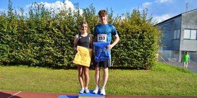 Die schnellsten Eschenbacher 2021: Noelia Büeler und Gino Wespe