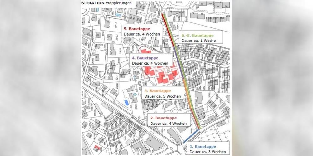 Die Arbeiten an der Meienbergstrasse erfolgen in fünf Etappen