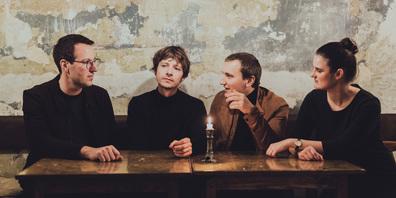 Die Band La Risa mit (von links) Simon Oberleitner (Keys), David Ambrosch (Bass), Konstantin Kräutler-Horváth (Drums) und Larissa Schwärzler (Voc.)