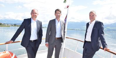 Die Geschäftsleitung der Bank Linth: Luc Schuurmans, David Sarasin, Martin Kaindl (v.l.)