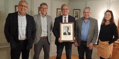 Paul Bühler mit dem Gemeinderat anlässlich der internen Verabschiedung