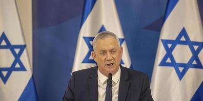ARCHIV - Benny Gantz, Verteidigungsminister von Israel gibt im israelischen Verteidigungsministerium eine Erklärung ab. Foto: Tal Shahar/Yediot Ahronot/AP/dpa