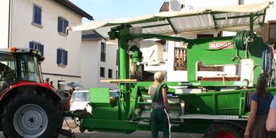 Die neue Presse aus Sittendorf TG ersetzt die aus dem Jahr 1961 stammende Mostpresse der Mostereigenossenschaft Zizers.