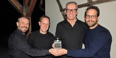 Die vier Freunde des Gins:  (v.l.n.r.) Sandro Kläui, Andreas Röst, Alain Bernhard und Markus Gahlinger