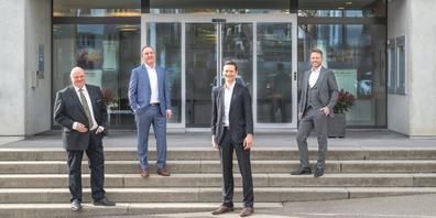 (v.l.n.r.) Rolf Güntensperger (RB Schänis-Amden), Thomas Wick (RB am Ricken), Pascal Peter (RB Benken), Markus Jäger (RB Rapperswil-Jona).