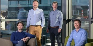 Lukas Plachel, Jan-Philip Schade, Lauro Böni und Sebastian Büchler