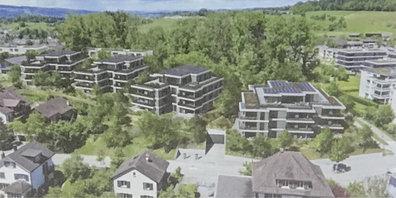 4 Häuser mit 42 Wohnungen geplant.