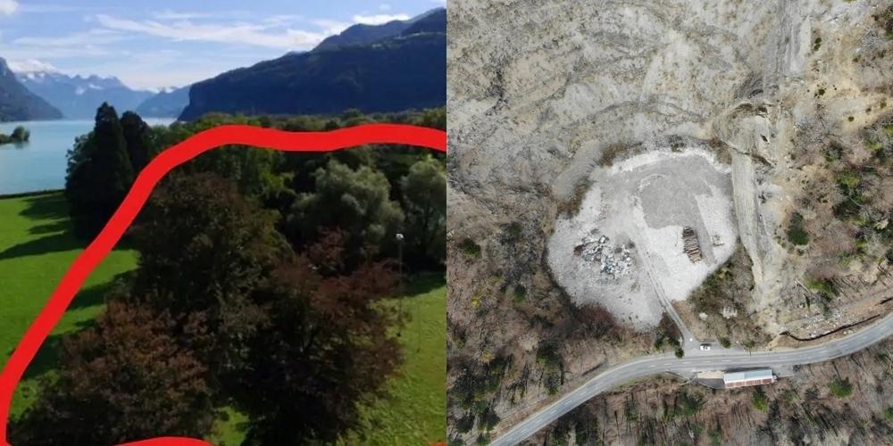 Zwei der Themen, mit denen sich der Gemeinderat kürzlich befasste: die Baumfällung im Kurfürstenpark (l.) und das Deponieprojekt Sittenwald.